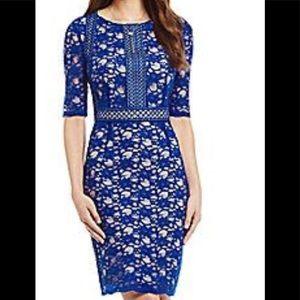 Antonio Melani  Annette lace  overlay dress SZ 8